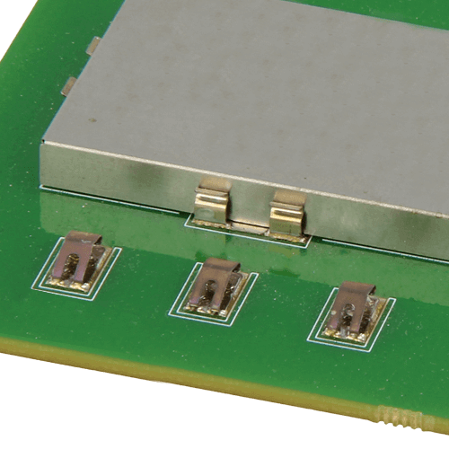 Example image of 2901-02 2.5mm high spring contact mounted on PCB