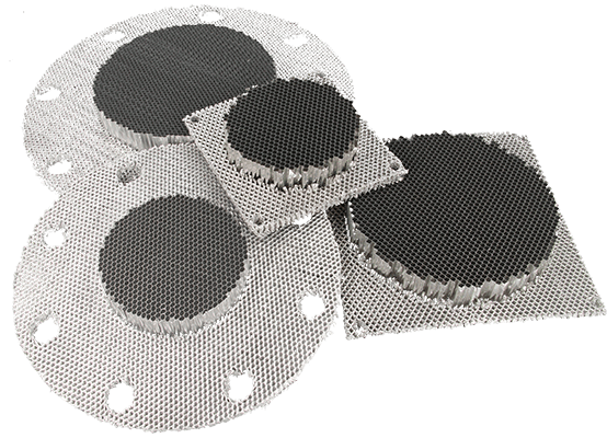 Round shaped Frameless EMI shielding ventilation panels (Framelss Honeycomb ventilation panels) with compressed sides