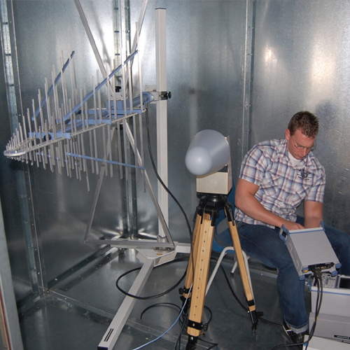 Example image of a Faraday cage measurement on location