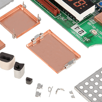 PCB- cans, gaskets, housings & clips