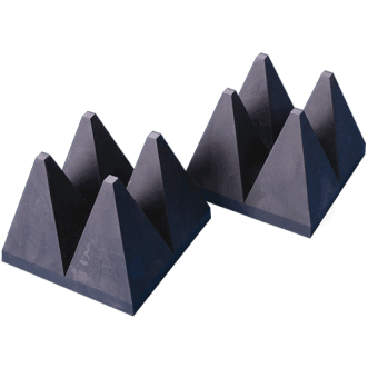 Wide-band hybride pyramide EM absorbers