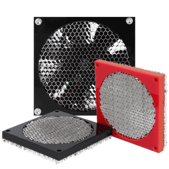 Honeycomb fan afscherming