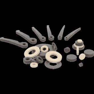 Geleidende sluitringen, cilinders en veren