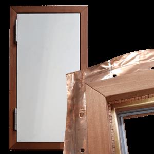 Afgeschermde houten deur