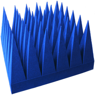 Breedband hybride piramidale absorbers