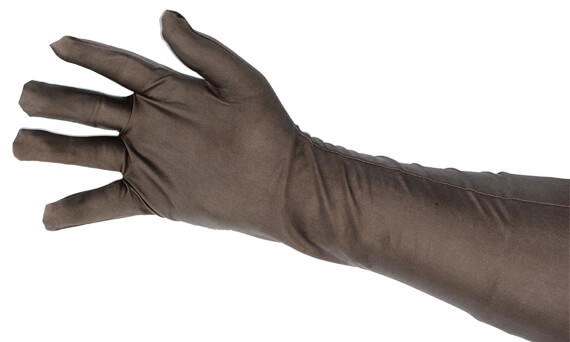 Our shielded gloves are made of a conductive stretch fabric making them suitable for any hand
