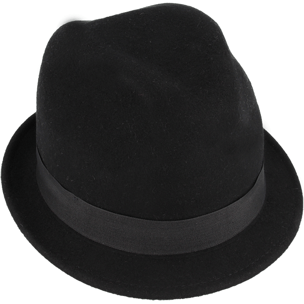 Shielded hat in a black color