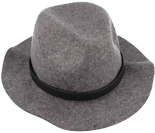 Shielded hat in a light grey color